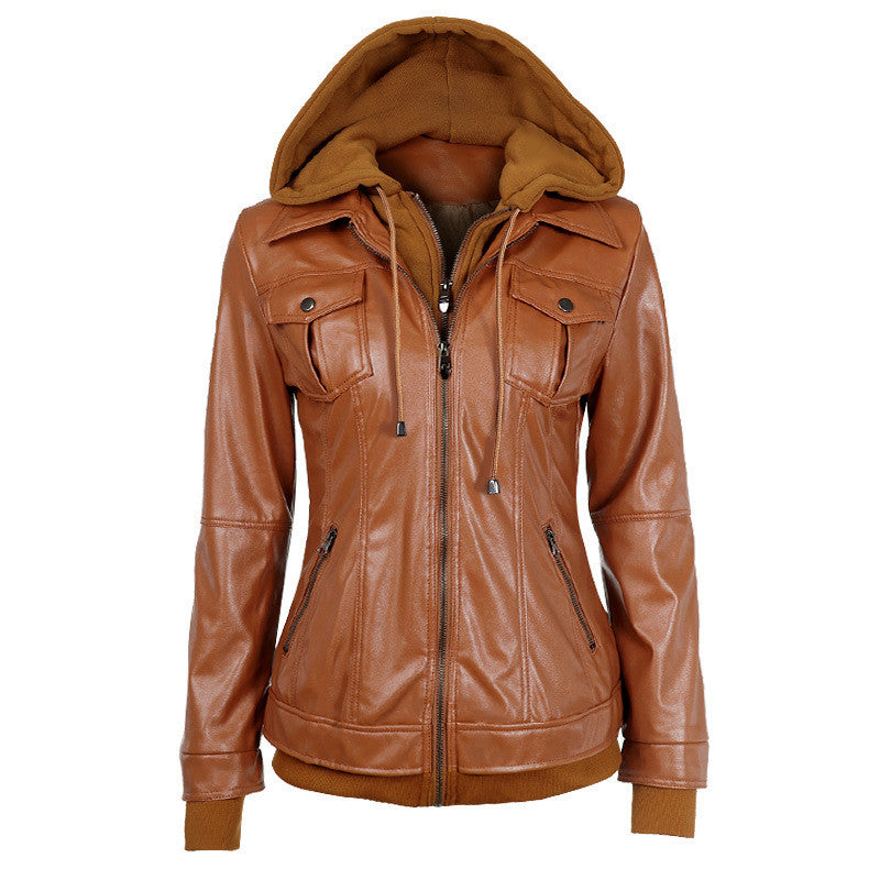 Faux Twinset Pocket Woman Jacket with Removable Hat on - Meet Yours Fashion - 1