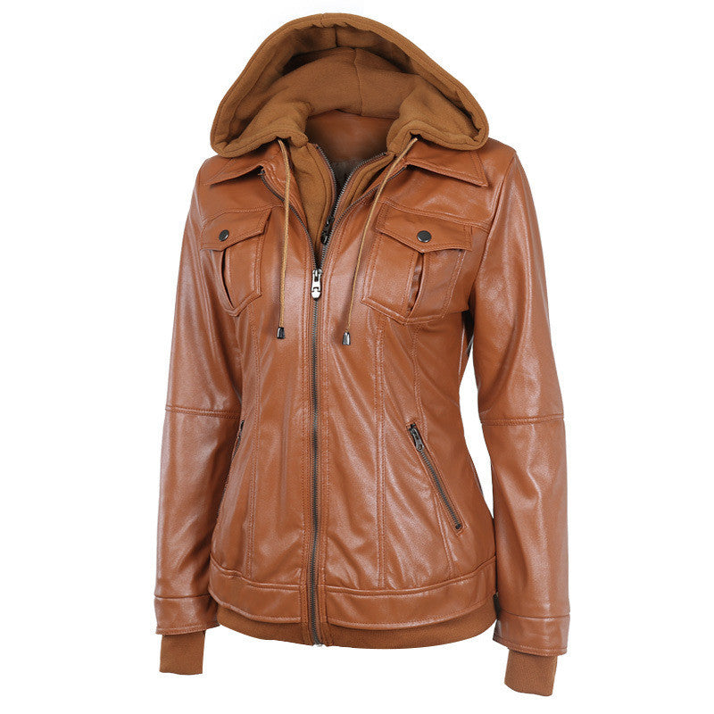 Faux Twinset Pocket Woman Jacket with Removable Hat on - Meet Yours Fashion - 6
