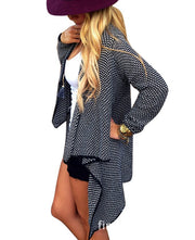 Cardigan Knit Asymmetric Lapel Loose Sweater - Meet Yours Fashion - 4