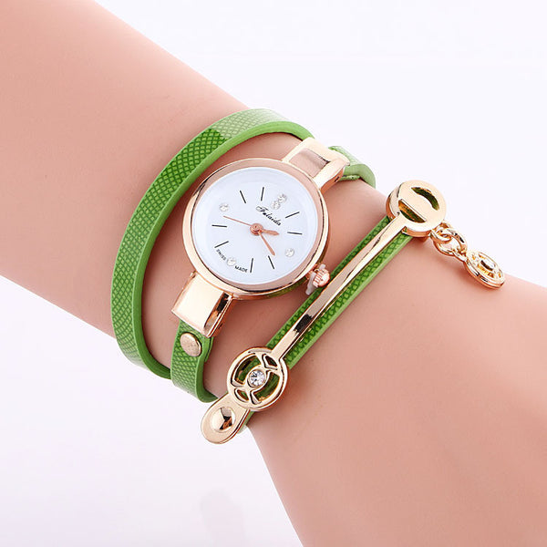 Classic Small Dial Wrap Metal Decoration Watch