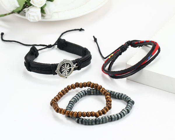 Compass Hand-woven Multilayer Bracelet