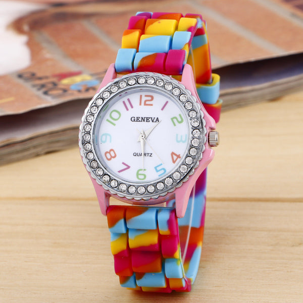 Exquisite Camouflage Diamond Watch