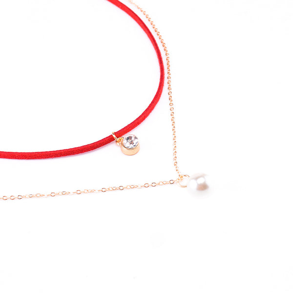 Colorful Lint Pearl Multilayer Necklace