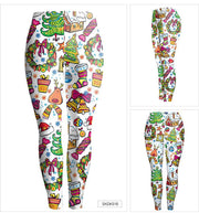 Digital Colorful Print Women Christmas Party Legging