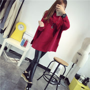 Batwing Sleeve Mohair Loose Knitting Sweater