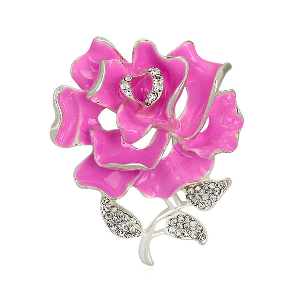 Retro Style Alloy Rose Brooch