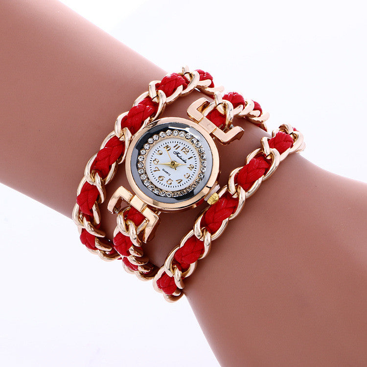 Bohemia Style Woven Alloy Chain Watch