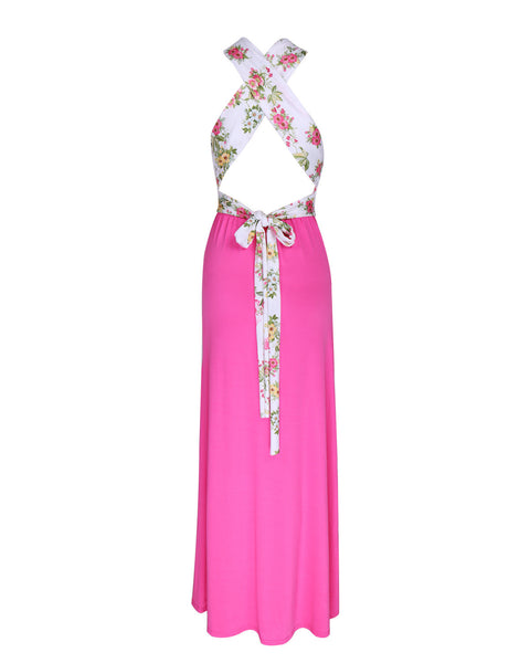Elegant Sleeveless Printed Slim Long Dress