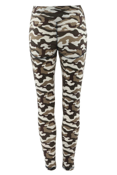 Camouflage Print Patchwork Sports Women's Sexy Leggings