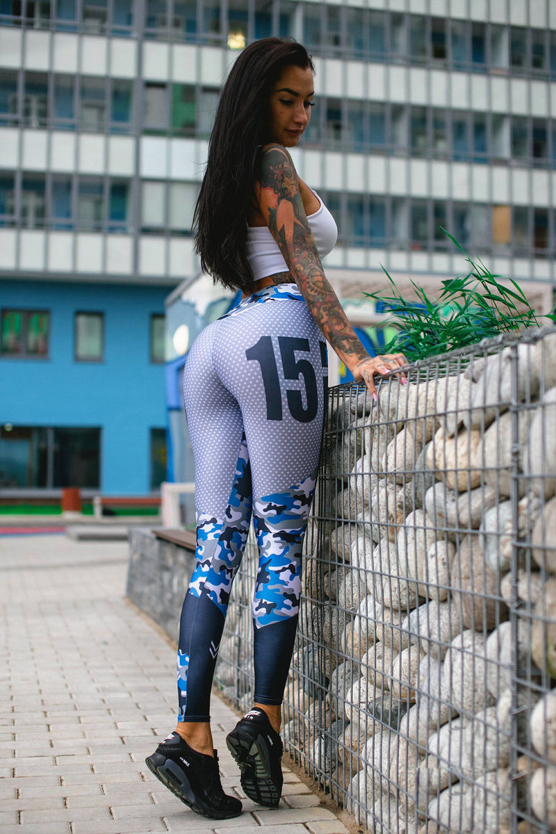 Sports Style Low Waist Print Long Leggings