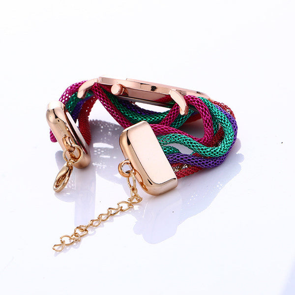 Bohemia Style Colorful Chain Elastic Watch