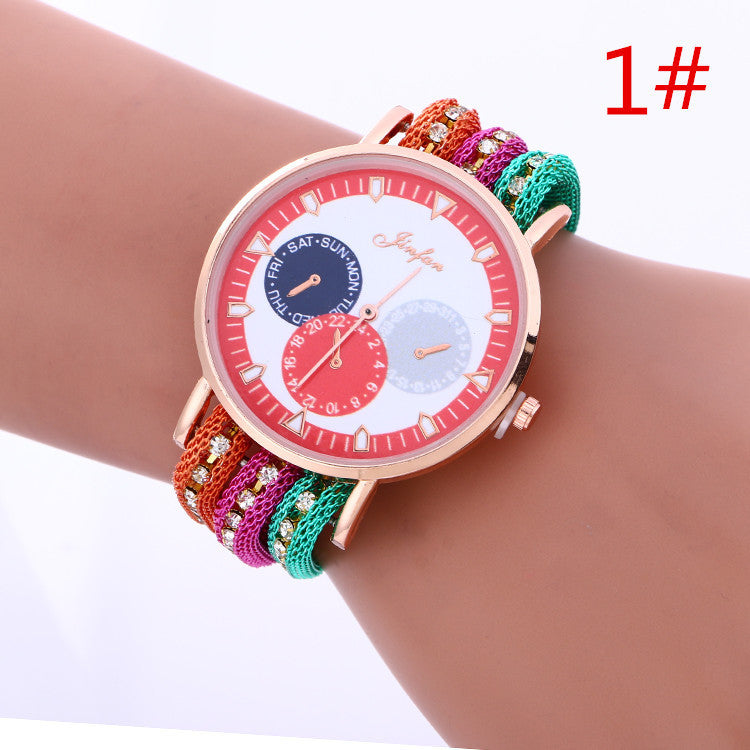 Popular Korean Style Three Eyes Watch