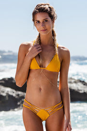 Pure Color Knitting Sexy Bikini