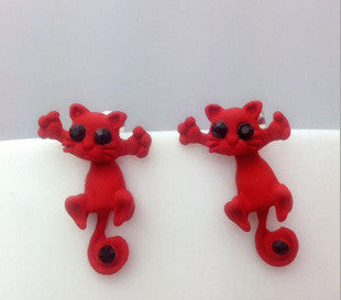 Creative Lovely Cat Stud Earrings