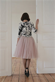 Fashion Multi-layer Pure Color A-line Tulle Skirt