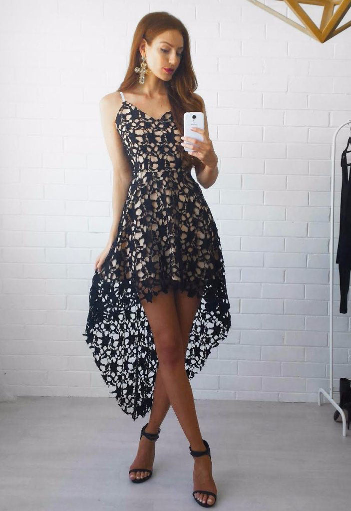 Bohemian Irregular Lace Spaghetti Strap Dress