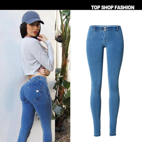 Elastic Packets Low Waist Pure Color Long Skinny Zipper Pants