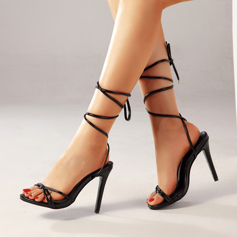 Strapped Stiletto Sandals