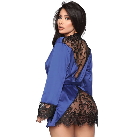 See Through Lace Cardigan NightDress