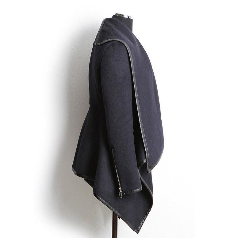 Long Irregular Thickening Woolen Overcoat - Meet Yours Fashion - 13