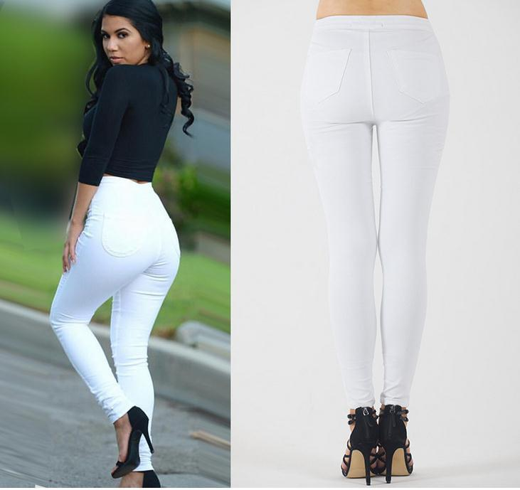 Elastic Slim Straight Casual Skinny High Waist Pants - Meet Yours Fashion - 5