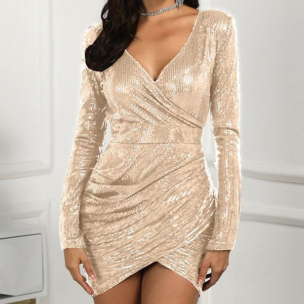 Sequin Bandage Short Dress