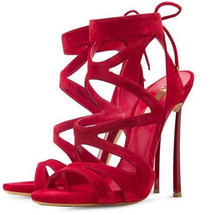 Ankle Strap Pointed  Open Toe Cutout Sandals