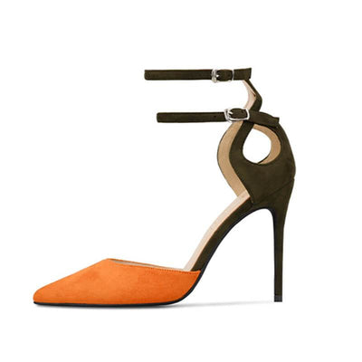 Party Color Block Pointed Toe High Heel Sandals