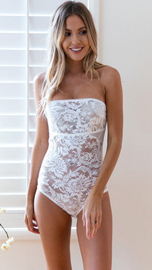 2017 Fashion Sexy Strapless Lace Jumpsuits
