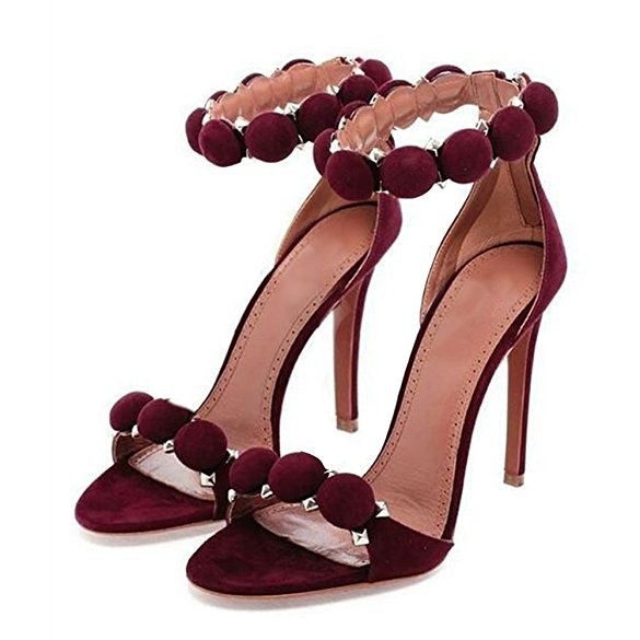 Stiletto Heel Open Toe Ankle Strap High Heels Sandals