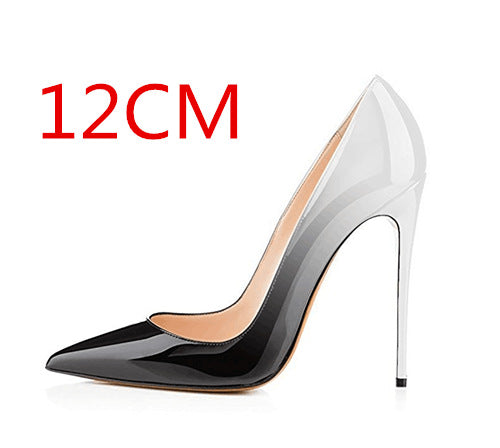 Pointed Toe Low Cut Super High Stiletto Heels Dress Party Shoes