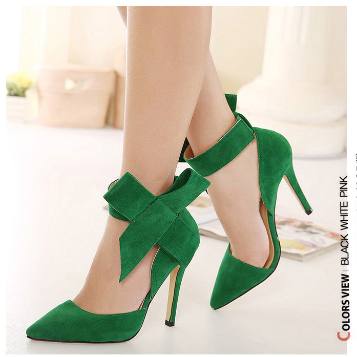 fa39a24964d6 ... Charming Removable Big Bow High Heel Heels Shoes - Meet Yours Fashion -  19 ...