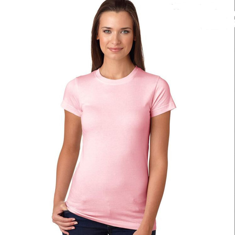 Fashion Pure Color Short Sleeve Soft Cotton T-Shirt