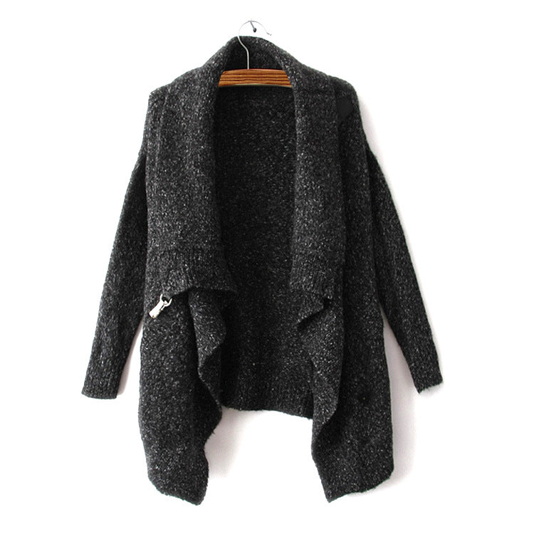 Fashion Splicing Pothook Cardigans Sweater Coat For Women