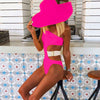 One Shoulder Cutout Buckle High Cut Swimsuit