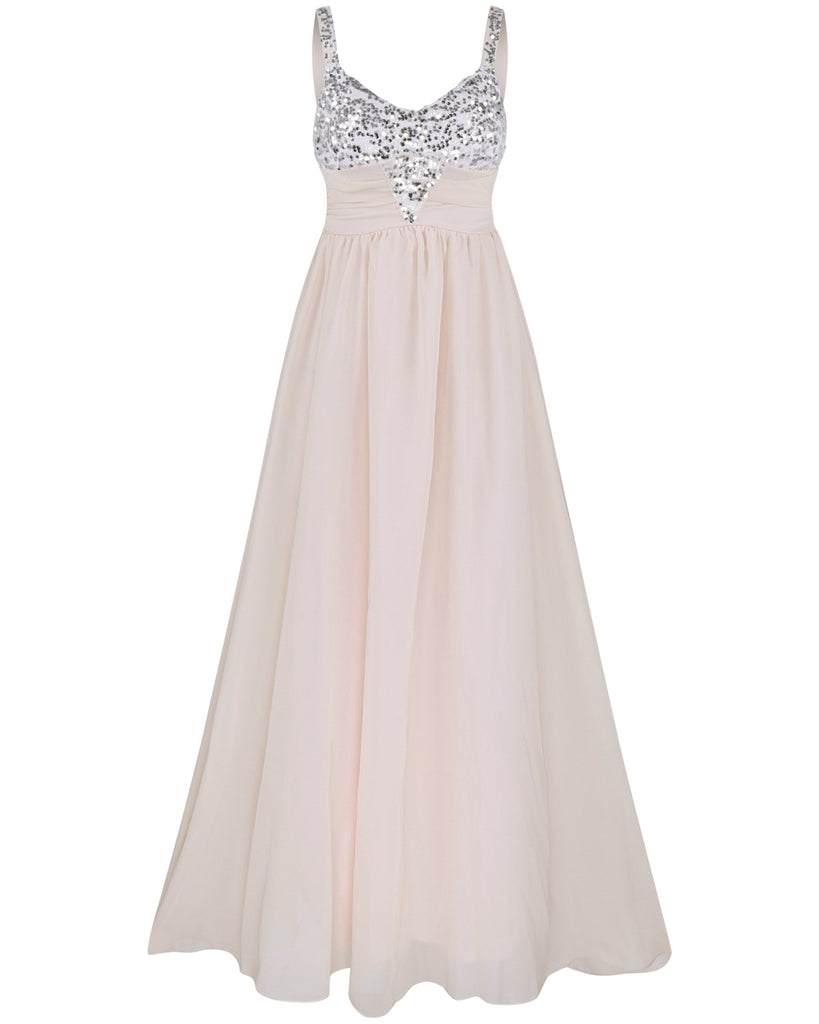 2b3deec35 Pleated Straps Sequined Ruched Long Prom Dress – MeetYoursFashion