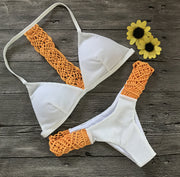 Hand-crafted Strappy Patchwork Bikini Set