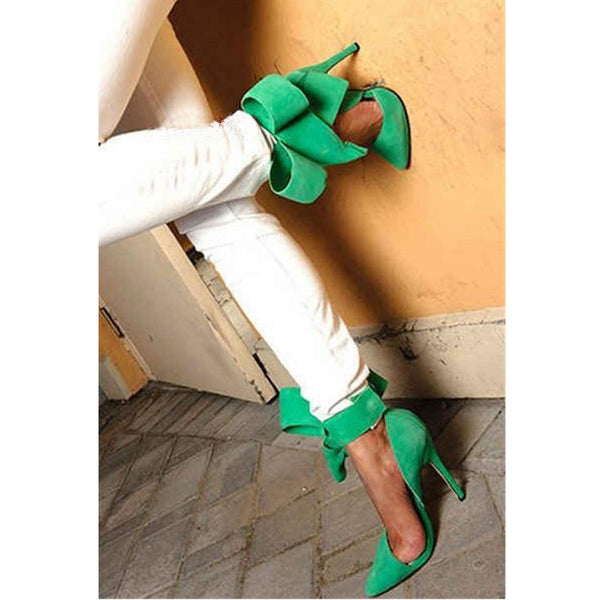 Charming Removable Big Bow High Heel Heels Shoes - Meet Yours Fashion - 17