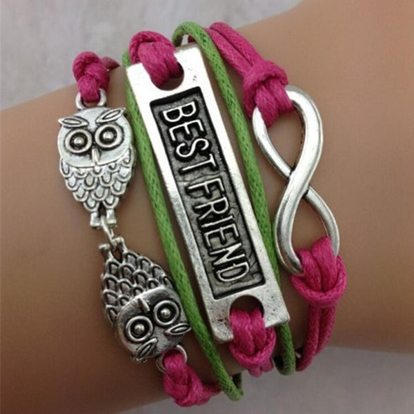 Owl Eight Multielement Colored Fashion Bracelets