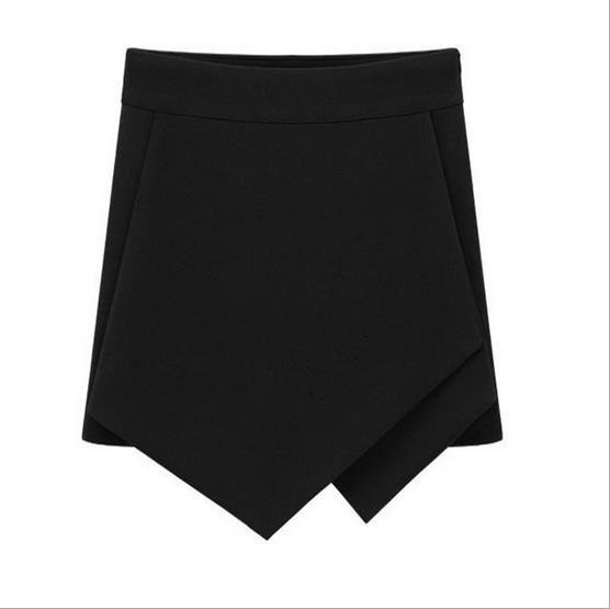 Cross Over High Waist Pure Color Shorts - Meet Yours Fashion - 5