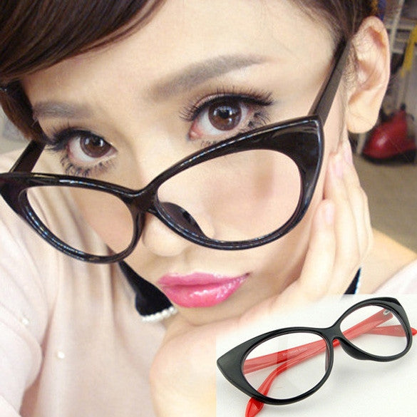 Fashion Vintage Classical Cat Eyes Design Eyeglasses Glasses 3Colors