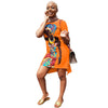 Africa Girl Print Mini Silt Dress