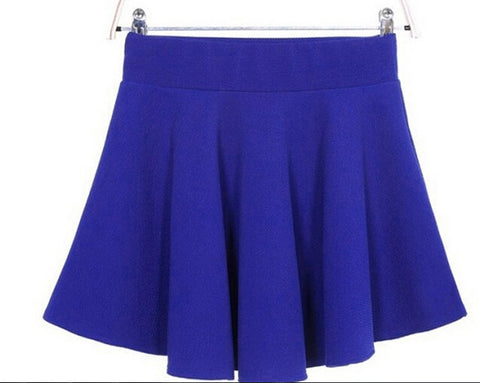 Candy Color Stretch Skater Flared Pleated Mini Skirt - MeetYoursFashion - 9