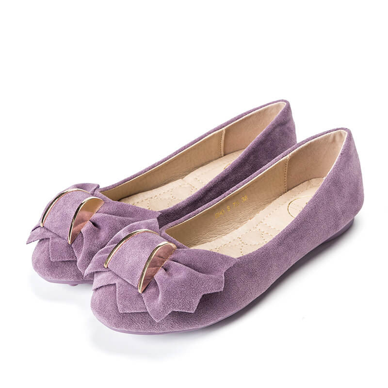 Creative Bowknot Suede Comfortable Flat Shoes Sneaker