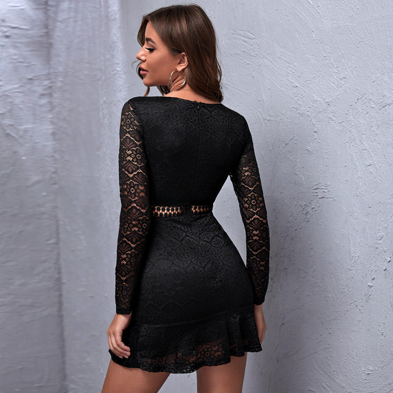 Lace slim long sleeve Dress