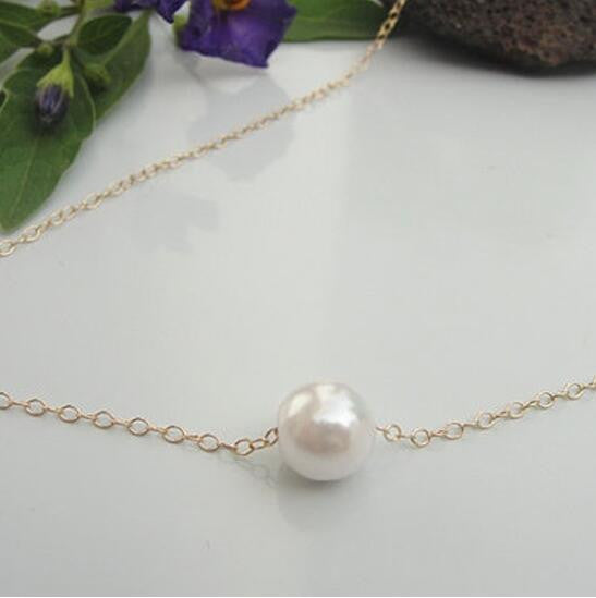 Delicate Pearl Collarbone Necklace Chain