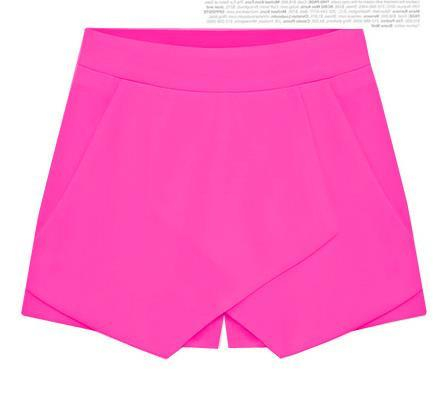 Cross Over High Waist Pure Color Shorts - Meet Yours Fashion - 7