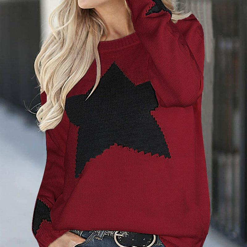 Star Pattern Knitted Sweater