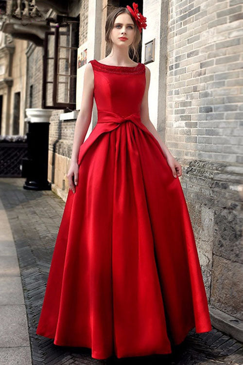 fecd605bf71a Solid Color Open Back Sleeveless Ball Gown Long Party Dress –  MeetYoursFashion