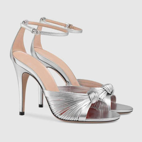 PU Open Toe Buckle Stiletto Heel Sandals